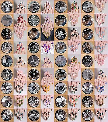 36×Manicure Template Nail Art Printing Image Polish Stamp Plates Scraper Stamper