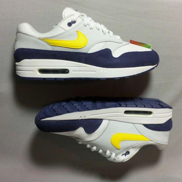 Nike Air Max 1 Size 11 White Tour Yellow Blue Recall Running Shoe AH8145 105
