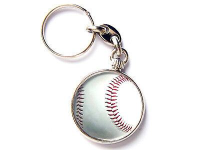 Volleyball Sport Quality Chrome Keyring Picture Both Sides
