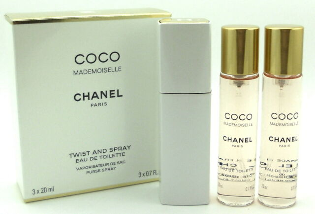 b7a594a0fca14 Chanel Coco Mademoiselle Chanel Twist and Spray EDT Purse Spray  3x20ml.(3x0.7oz