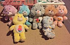 Vintage Care Bears Plush ~ Birthday Bear, Share Bear & More ~ Lot of 7
