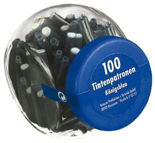 Füllerpatronen königsblau im Glas 500 5x 100 Tintenpatronen