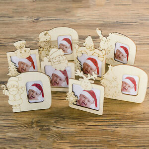 Wooden-Christmas-Photo-Frame-Decorations-Photo-Ornament-Kids-Cute-Table-Decor-UK