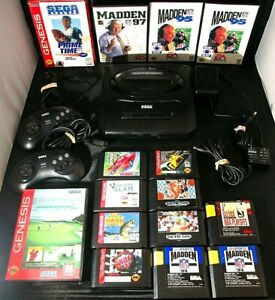 Vintage-Sega-Genesis-Console-Game-Lot-Of-20-Console-Controllers-15-Games