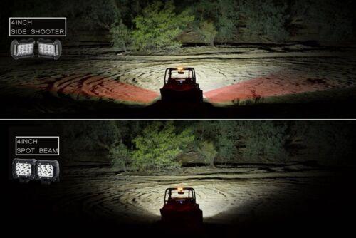 "4/"" Side Shooter CREE LED Light Pods Trailer Tow Hitch Mount Bracket Holder Truck"