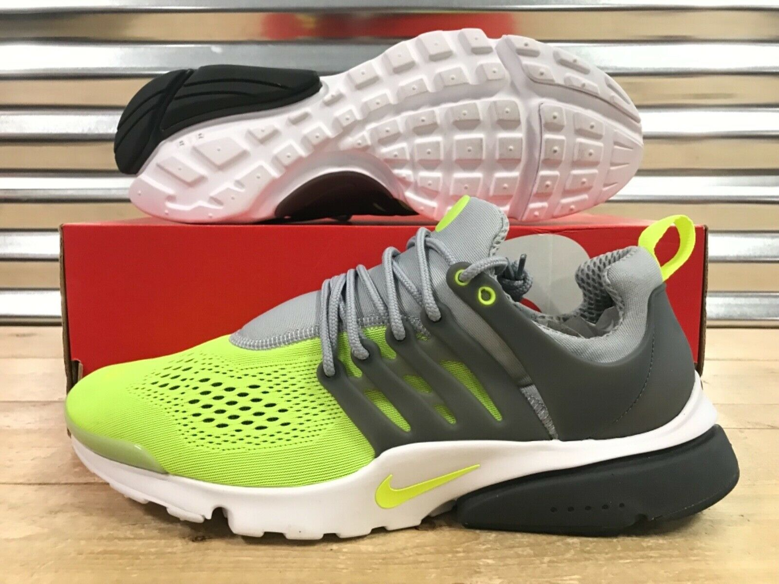 Nike Air Presto Ultra Breathe BR Running shoes Grey Wolf Volt SZ ( 898020-004 )