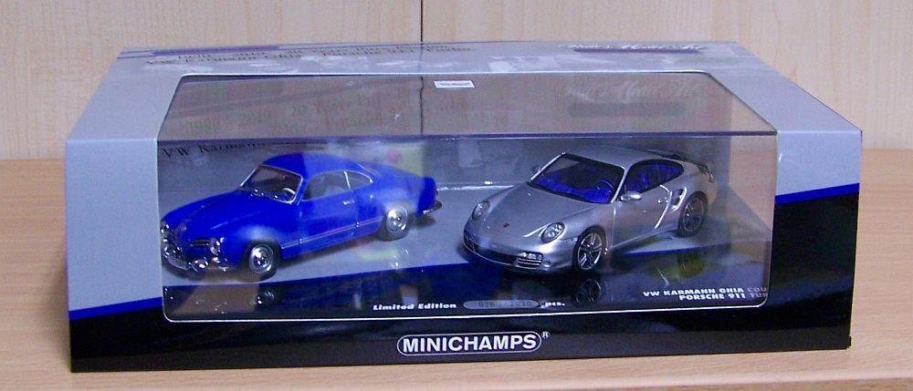 Minichamps 1 43  set  20 años Minichamps  con Karmann Ghia u. Porsche 911 Turbo