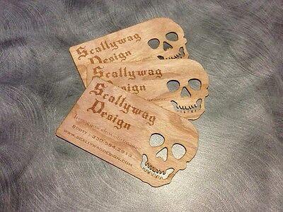 100 Very Unique Custom Wooden Business Cards Laser Engraved RESERVED FOR bastbuy