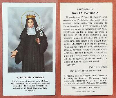 Santino Holy Card: S. Santa Patrizia Vergine venerata in Napoli | eBay