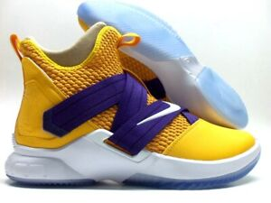 best sneakers 15825 4c9bb NIKE LEBRON SOLDIER XII 12 ID LAKERS CANYON GOLD/PURPLE SZ ...