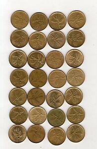 repubblica-moneta-20-lire-bronzo-stock-composto-da-28-pezzi-come-foto