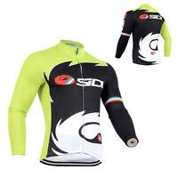 New Mens Cycling Long Sleeve Jersey Race Uniforms Jackets Size S M L XL 2XL 3XL