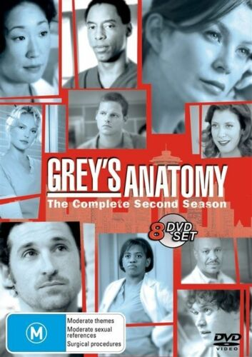 1 of 1 - Grey's Anatomy : Season 2 (DVD, 2005, 8-Disc Set) Region 4 Drama DVD Rated M *