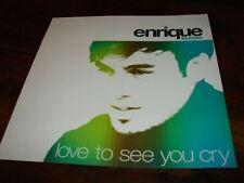 ENRIQUE IGLESIAS LOVE TO SEE YOU!!RARE FRENCH PRESS/KIT