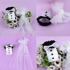 2pcs Tux Bridal Veil Toasting Wedding Party Bride Groom Mark Wine Glass  Decor c4a18702ead3