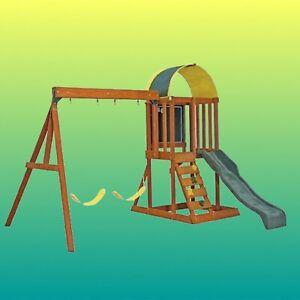 backyard discovery tucson cedar wooden swing set | eBay