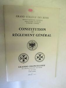 Grand-College-des-Rites-Constitution-et-Reglement-General-1984