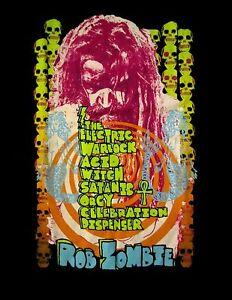 ROB-ZOMBIE-cd-cvr-ELECTRIC-WARLOCK-ACID-WITCH-SATANIC-ORGY-Official-SHIRT-LG-new