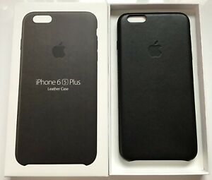 Genuine Apple Iphone 6s Plus 6 Plus Leather Case Black Mkxf2zm A Large Size Ebay
