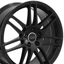 """18"""" Wheels For Audi A3 A4 A5 A6 A8 18X8.0 et 42 5X112 Black Alloy Rims Set (4)"""