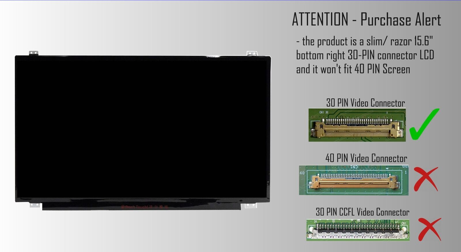 Wikiparts* NEW 15.6 LED LCD SCREEN COMPATIBLE WITH NT156WHM-N50 LAPTOP GLOSSY DISPLAY PANEL