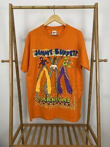 VTG-90s-Jimmy-Buffett-Carnival-Tour-Bold-Orange-Short-Sleeve-T-Shirt-Size-XL