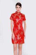eb2a7cdcc UK Stock Chinese Short Mini Vintage Evening Party Fancy Dress Qipao  Cheongsam