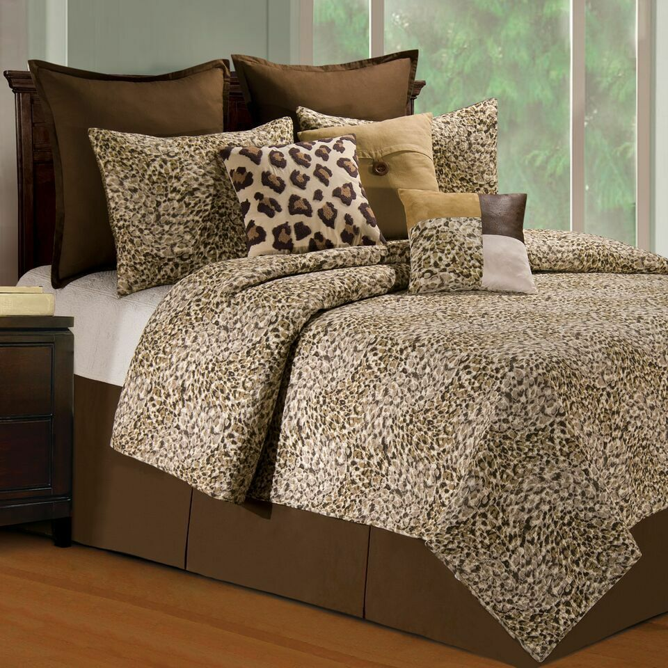 Sabi Sands Animal Print 3 Pc.Full Queen Quilt Set Cotton Quilted Bedspread C & F