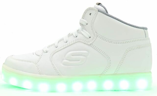 cheap for sale largest selection of 2019 super specials Skechers Sk90600 Energy Lights White Kids Light up High Top Trainers Size  28-39 37