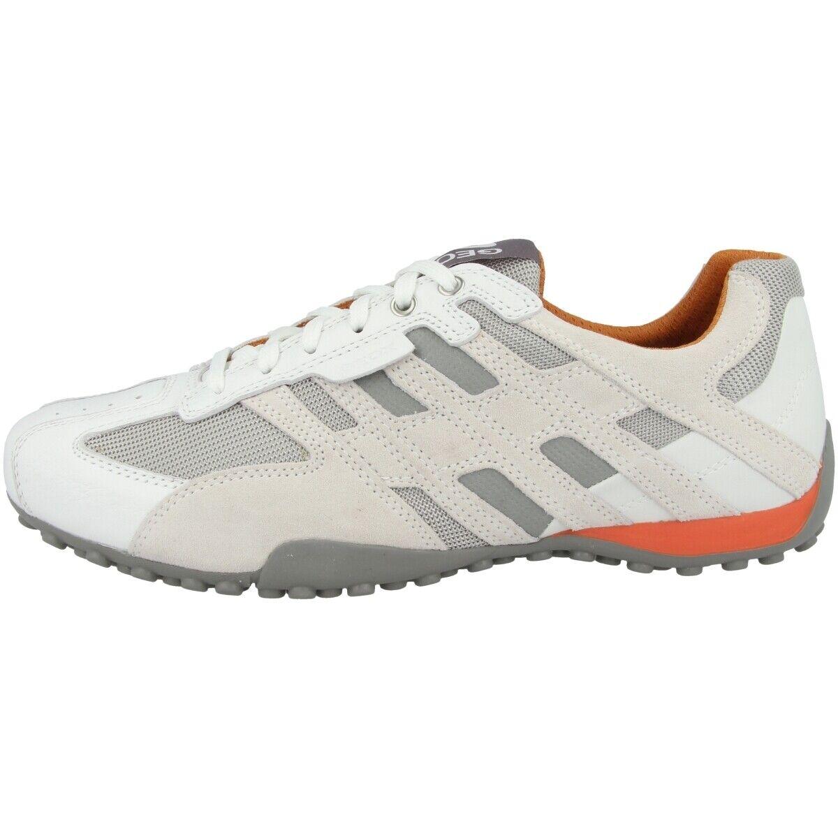 GEOX U Snake K Schuhe Herren Sneaker Leder Halbschuhe Schnürer U4207K08514C1405