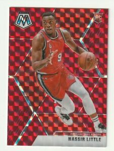 2019-20-Panini-Mosaic-Prizm-RED-Rookie-RC-Nassir-Little-Portland-Blazers-247-SP