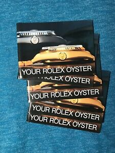 YOUR-ROLEX-OYSTER-BOOKLET-1983-1989-All-English-All-Authentic-Choose-Date