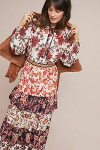2e8b1ec8736 Image is loading NWT-ANTHROPOLOGIE-EMILIE-PATCHWORK-RUFFLED-MAXI-DRESS-by-