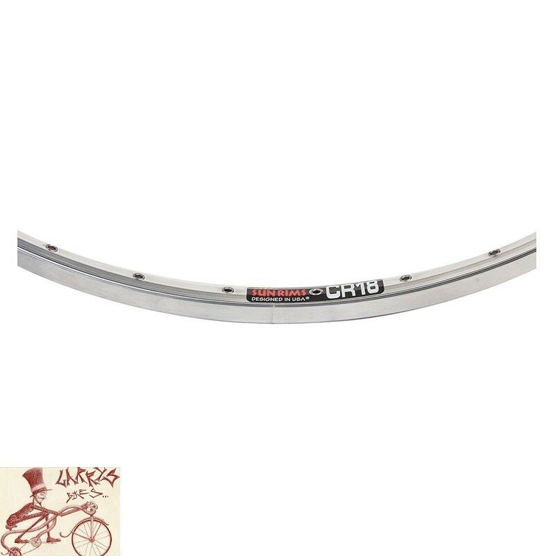 SUN RINGLE  CR18 36H --- 27  X 1-1 4  borde de plata pulido Bicicleta  mejor marca