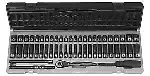 "Grey Pneumatic 89253CRD 1//4/"" dr 12 pt 53 pc SAE /& Metric Duo Socket Set"