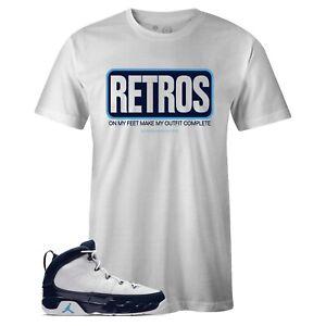b865cce953c Men's White RETROS Sneaker T-shirt to Match Jordan Retro 9