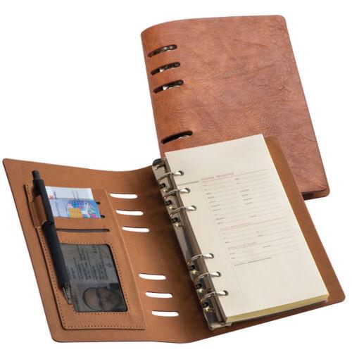 PU-Einband mit Notizblock DIN A6 Ringbuch