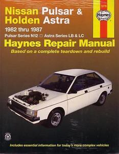 haynes repair manual nissan pulsar n12 astra lb lc ebay rh ebay co uk ts astra workshop manual pdf ts astra workshop manual free download