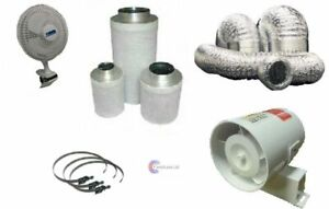 """4"""" InLine Fan Carbon Filter & Duct Kit Hydroponic Grow ..."""