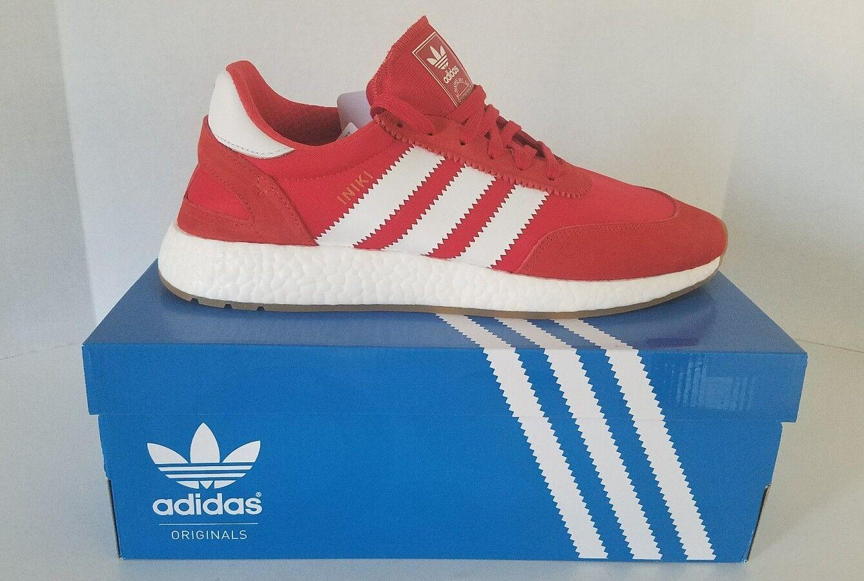 Adidas Originals Red Iniki Runner Boost Running BY9728 White/Gum Core
