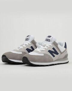 New-Balance-574-Scarpe-Sportive-Sneakers-Uomo-Grigio-Suede-Mesh
