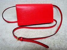 Item 4 Lauren Ralph Newbury Kaelyn Fiery Red Mini Cross Body Handbag Purse