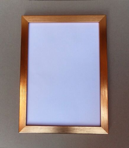 FREE P/&P A4 Certificate Photo//Picture Frame in Narrow Bronze//Copper finish