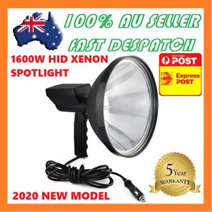 1600W-HID-9-034-Handheld-240mm-Camping-Spot-Light-Spotlight-Hunting-Fishing-OffRoad