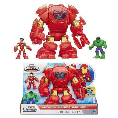 Marvel Super Hero Adventures Tech Armor Tony Stark Hulk Buster Ironman