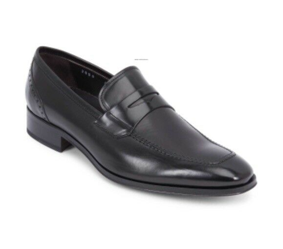 """New To Boot New York """"Moore"""" Black Leather Penny Loafer shoes Size 8"""