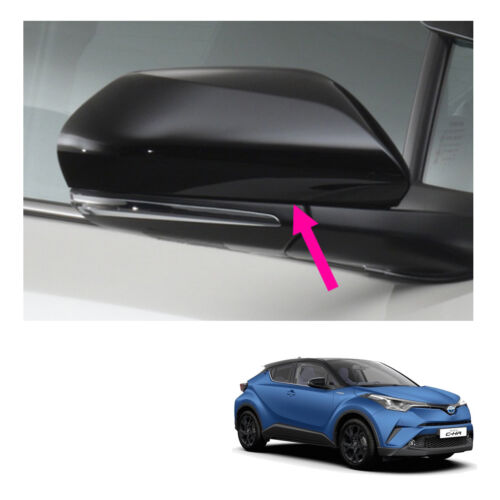 Fits Toyota C-HR Suv 18 19 Genuine Wing Side Mirror Garnish Cover Trim Black