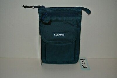 Supreme Cordura Dark Teal Backpack Authentic FW19 Box Logo Bag W// BOGO Sticker