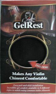 Gelrest Violin/Viola Chinrest Pads -Black-Authorized-USA-New packaging-better