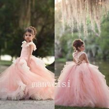 Flower Girl Dress Sleeveless Elegant Pink Coffee Color Size 3 Ebay
